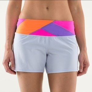 Lululemon Groovy Run Shorts - Cool Breeze/Quilt